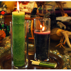 Blessed Herbal Coventry Glass Candle Holders - case